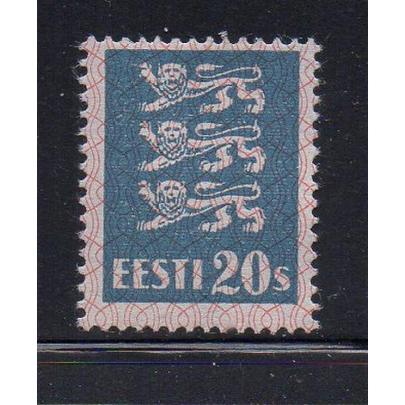 Estonia Sc 99 1928 20s slate blue Arms stamp mint