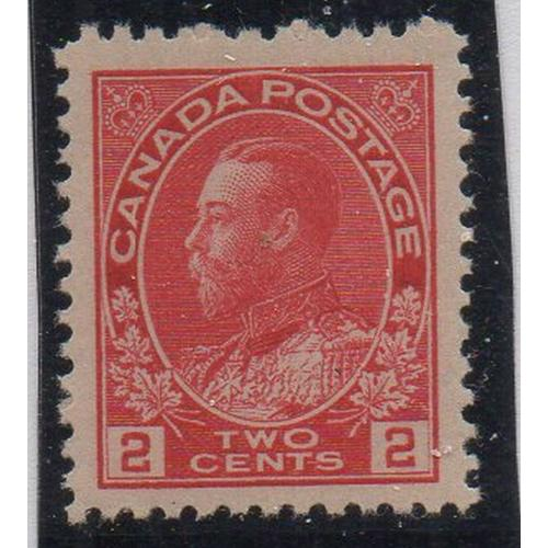 Canada Sc 106 1911 2 cent carmine George V Admiral stamp VF NH