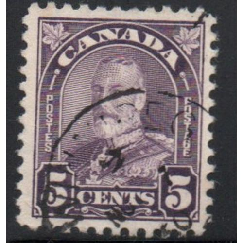 Canada Sc 169 1930 5c dull violet G V arch issue stamp used