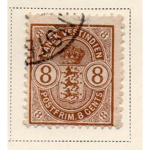 Danish West Indies Sc 30 1903 8c brown  seal stamp used