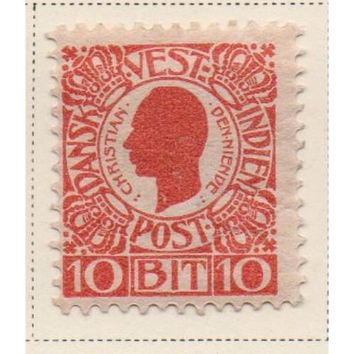 Danish West Indies Sc 32 1905 10 b red Christian IX stamp mint