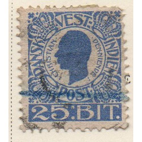 Danish West Indies Sc 34 1905 25 bit Christian IX stamp used