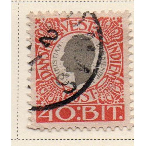 Danish West Indies Sc 35 1905 40 bit Christian IX stamp used