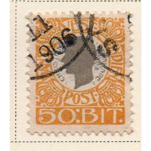 Danish West Indies Sc 36 1905 50 bit Christian IX stamp used
