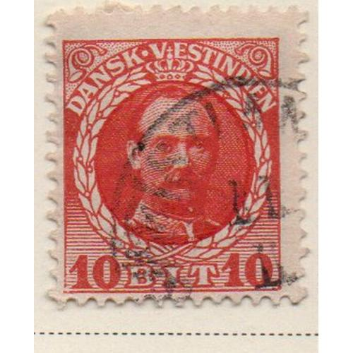 Danish West Indies Sc 44 1908 10 bit Frederik VIII stamp used
