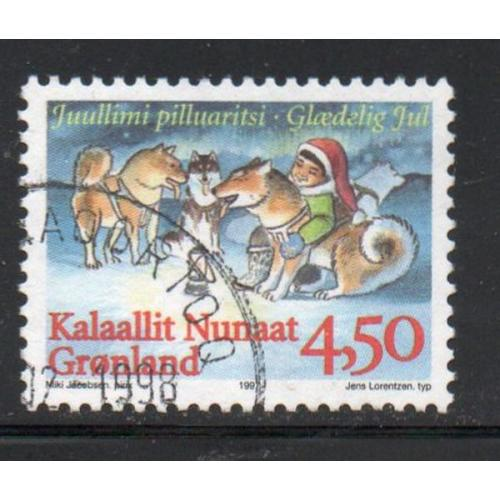 Greenland Sc 327 1997 4.5 kr Christmas stamp used