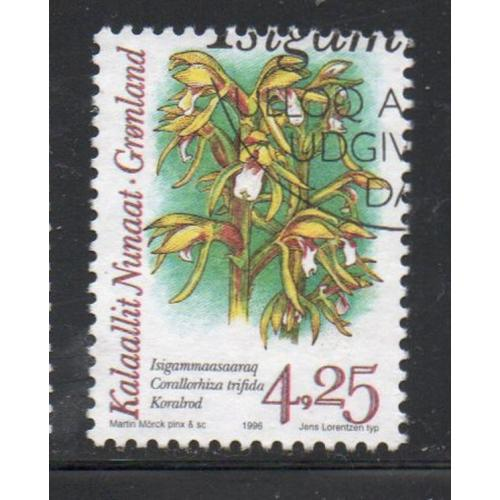 Greenland Sc 280 1995 4.25 kr Orchids stamp used