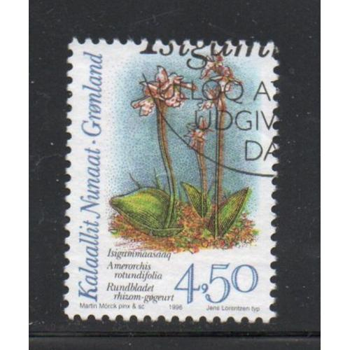 Greenland Sc 281 1995 4.5 kr Orchids stamp used