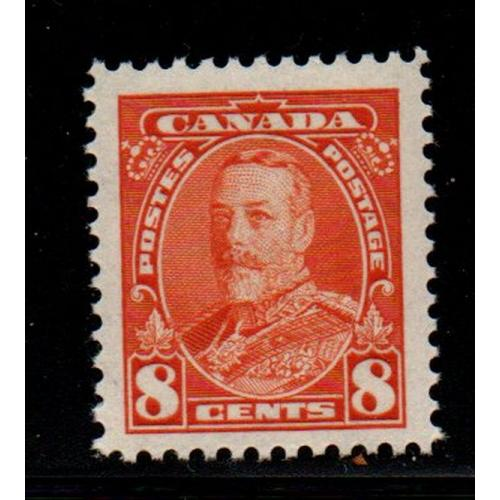 Canada Sc 222 1935 8c deep orange George V stamp mint NH
