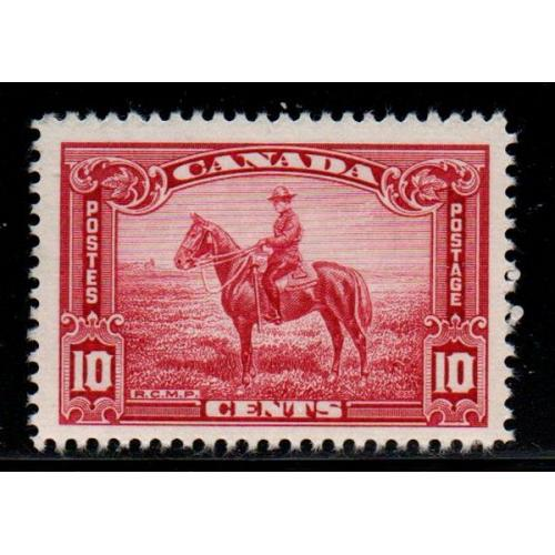Canada Sc 223 1935 10c RCMP Officer on Horse stamp mint NH