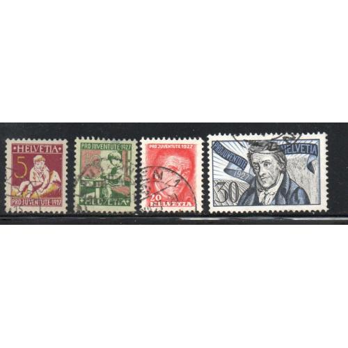 Switzerland Sc B41-44 1927 Pro Juventute stamp set used
