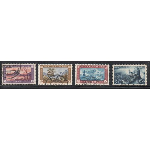 Switzerland Sc B49-52 1929 Pro Juventute views stamp set used