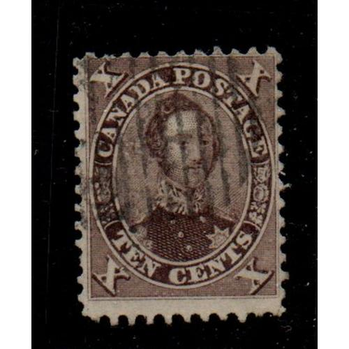 Canada Sc 17 1859 10c Prince Albert stamp used