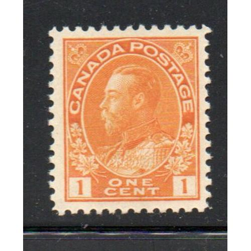 Canada Sc 105 1922 1c orange yellow George V Admiral stamp mint