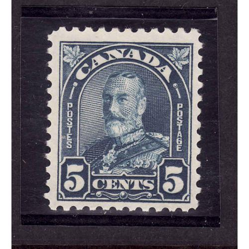 Canada-Sc#170-Unused 5c dull blue KGV Arch-OG NH-1930