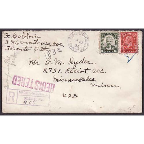 Canada-#10838 - 5c Royal William on FDC [#204]- Victoria, BC - Aug 17 1933  -