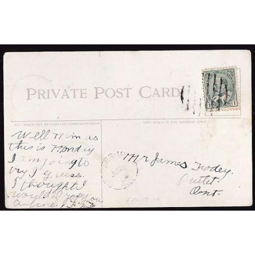 Canada-#11373 - 1c KEVII on postcard - Frontenac County - Brewers Mills, Ont sin