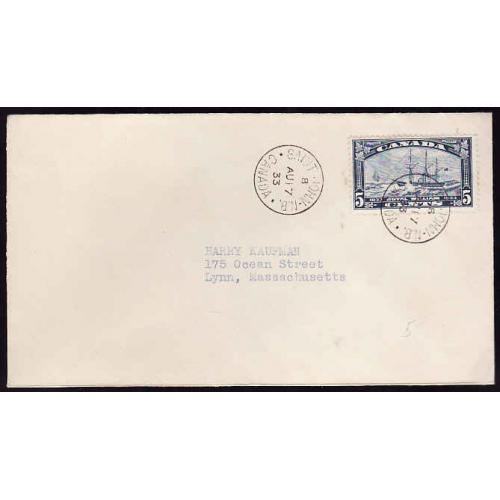 Canada-#12367 - 5c Royal William [#204] on First Day Cover - St. John, NB -