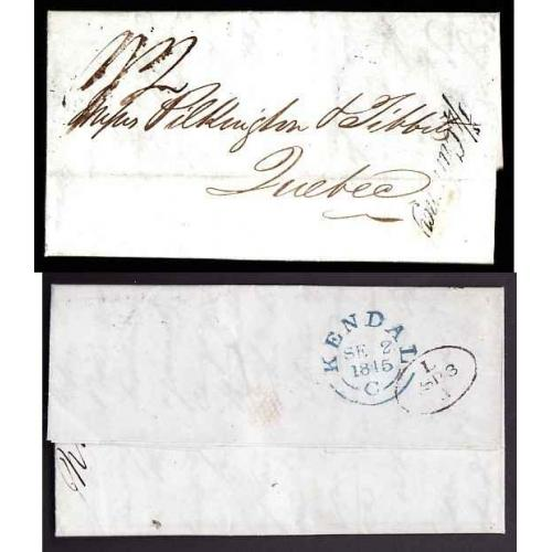 Canada- #13060 - Stampless folded letter [ relating to deficiencies in the shipment o