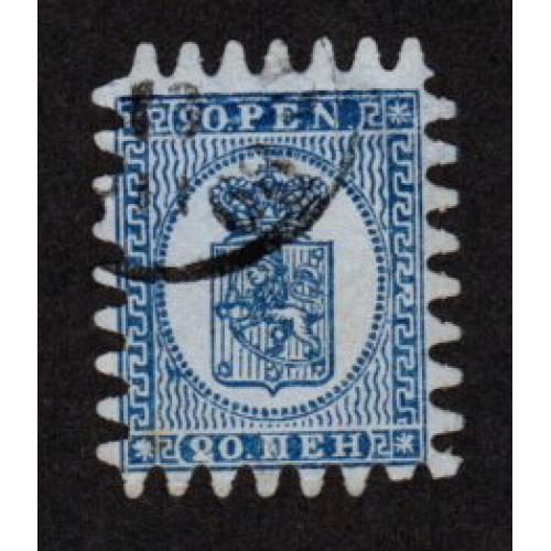 FINLAND USED 10p  COAT OF ARMS STAMP SCOTT # 8