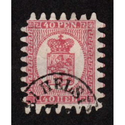 FINLAND USED 20p  COAT OF ARMS STAMP SCOTT # 9