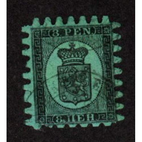 FINLAND USED 40p  COAT OF ARMS STAMP SCOTT # 10