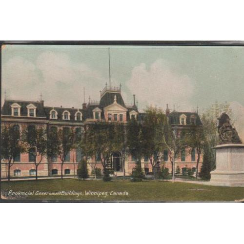 Colour PC Provincial Government Buildings, Winnipeg Canada used 1914
