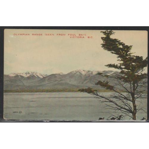 Valentine & Sons Colour PC Olympic Range Foul Bay Victoria B.C. unused