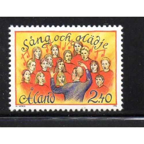 Aland Finland Sc 128 1996 Song & Music Festival stamp  mint NH
