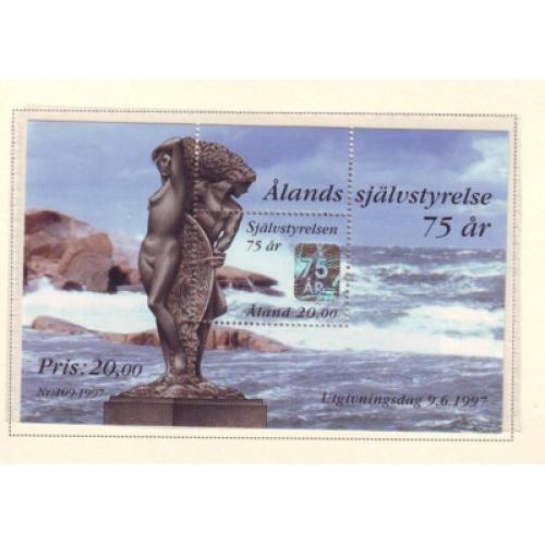 Aland Finland Sc 137 1997 75th Anniversary Autonomy stamp sheet mint NH