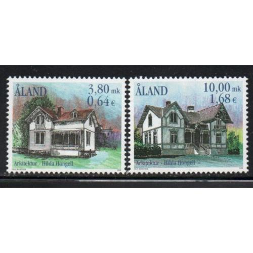 Aland Finland Sc 170-71 2000 Hongell, Architect, stamp set mint NH