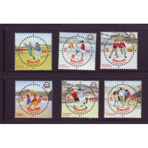 Alderney Sc  227-32 2004 FIFA ( Soccer) 100 years stamp set mint NH