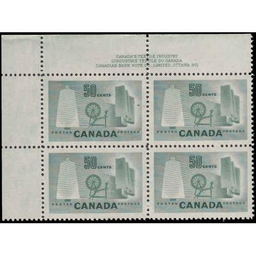 Canada #334 Plate 1 Upper Left Never Hinged