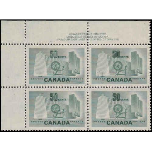 Canada #334 Plate 2 Upper Left Never Hinged