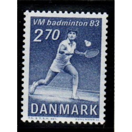 Denmark Sc 734 1983 Badminton Championship stamp mint NH