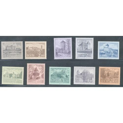 Estonia Sc  244-53 1993-97 Castles stamp set mint NH