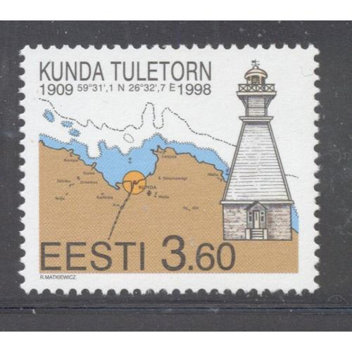 Estonia Sc  338 1998 Kunda Lighthouse stamp mint NH