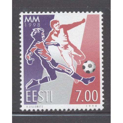 Estonia Sc  341 1998  World Cup Soccer stamp mint NH