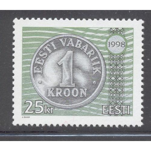 Estonia Sc  345 1998 25 kr Coin stamp mint NH