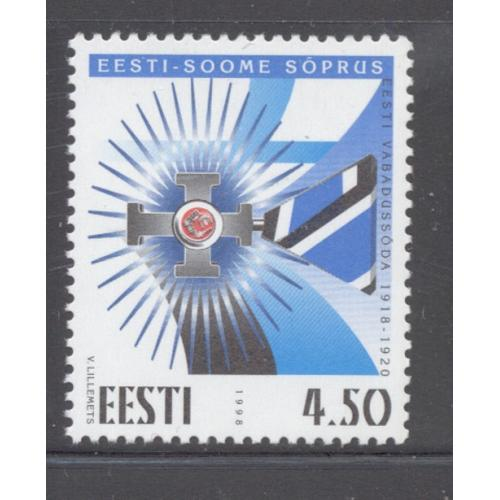 Estonia Sc  352 1998 Finnish Military Aid stamp mint NH