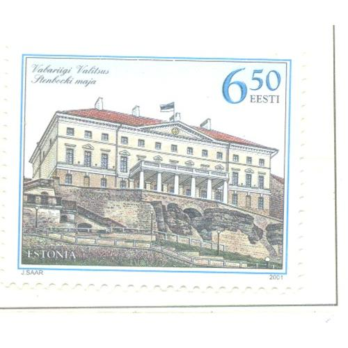 Estonia Sc 410 2001 Stenbook House stamp mint NH