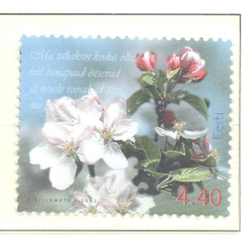 Estonia Sc 436 2002 Spring Flowers stamp  mint NH