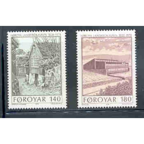 Faroe Islands Sc 39-40 1978 New Library stamp set mint NH