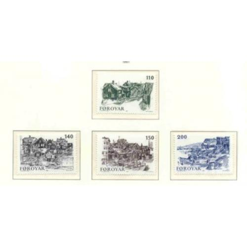 Faroe Islands Sc 59-62 1981 Old Torshavn stamp set mint NH
