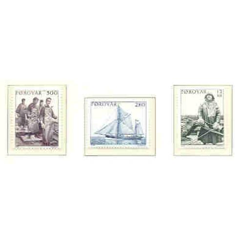 Faroe Islands Sc 112-4 1984 Fishing Industry stamp set mint NH
