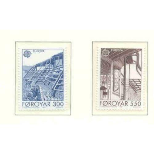 Faroe Islands Sc 156-7 1987 Europa stamp set mint NH