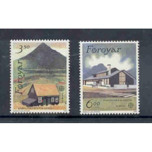 Faroe Islands Sc 205-6 1990 Europa stamp set mint NH