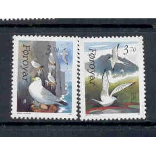 Faroe Islands Sc 224-25 1991 Birds stamp set mint NH