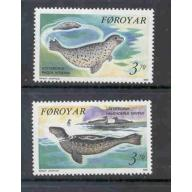 Faroe Islands Sc 239-40 1992 Seals stamp set mint NH