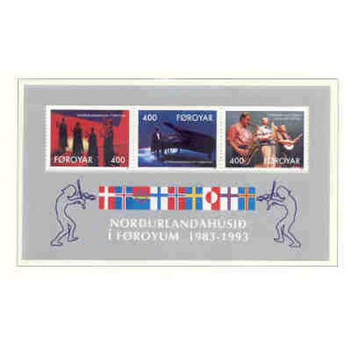 Faroe Islands Sc 249a 1993 Nordic House stamp sheet mint NH